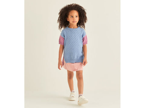 Girl's Tunic in Sirdar Snuggly Replay DK (2549S)