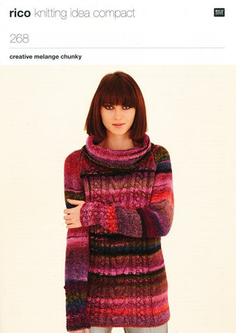 Raglan Tunic and Raglan Sweater in Rico Design Creative Melange Chunky (268)