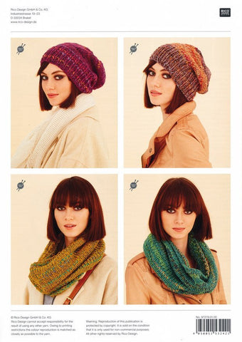 Hats and Snoods in Rico Design Fashion Flame (279)