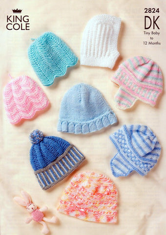 Baby Hats in King Cole DK (2824)