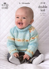 Cardigan and Sweater in King Cole Splash DK (3118)