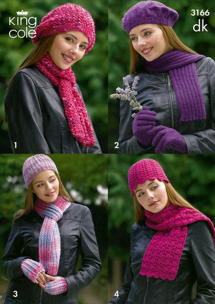 Hats, Scarves & Gloves in King Cole DK (3166)