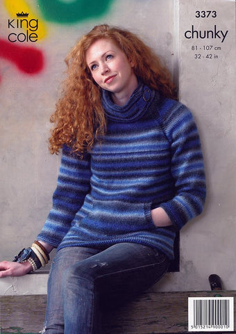Jacket and Sweater in King Cole Riot Chunky (3373)