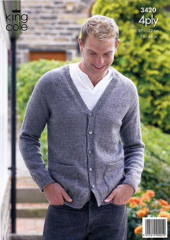 Sweater & Cardigan in King Cole 4 Ply (3420)