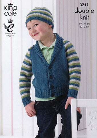 Cardigans and Hats in King Cole Pricewise DK (3711)