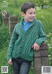Sweater and Cardigan in King Cole Aran (3720)