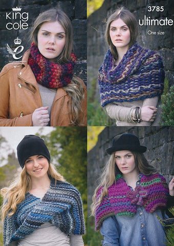 Snood, Collar, Wrap and Shrug In King Cole Ultimate (3785)