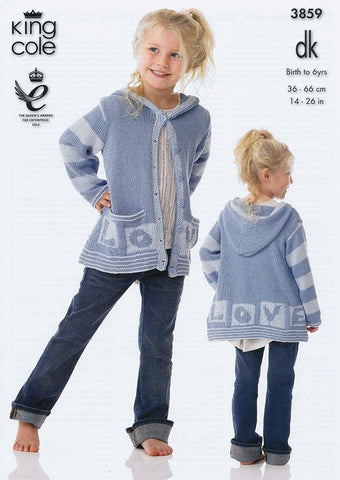 Dress, Hoodie, Blanket and Cushion in King Cole DK (3859)