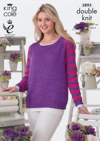 Sweaters in King Cole Giza Cotton DK (3895)