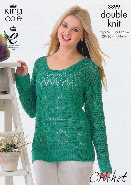 Sweater and Top in King Cole Giza Cotton Dk (3899)