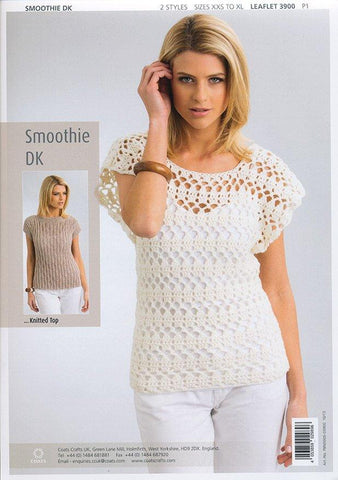 Summer Tops in Patons Smoothie DK (3900)