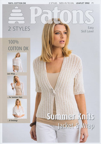 Jacket & Wrap in Patons 100% Cotton DK (3902)