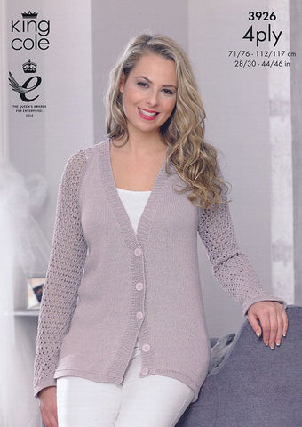Cardigans in King Cole Bamboo 4 Ply (3926)