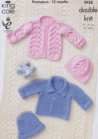 Jackets , Hats and Blanket in King Cole DK (3928)
