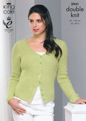 Cardigan and Top in King Cole Smooth DK (3941)