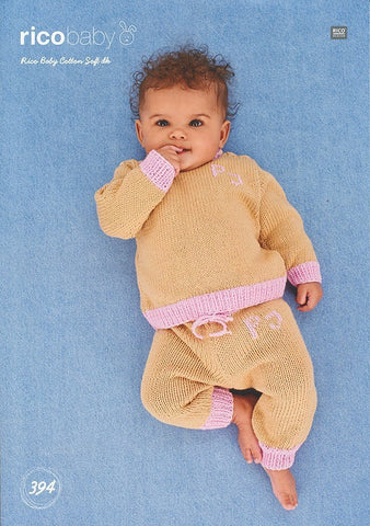 Sweater and Trousers in Rico Design Baby Cotton Soft DK (394)