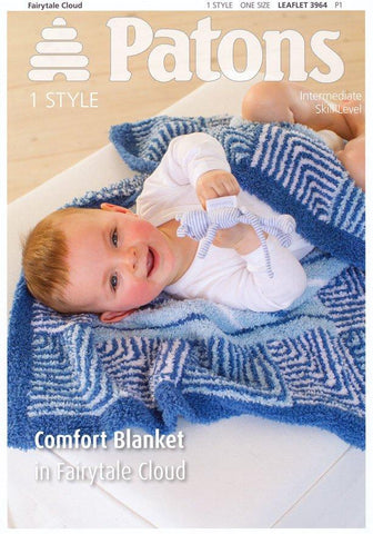 Comfort Blanket in Patons Fairytale Cloud (3964)-Deramores