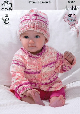 Blanket, Jacket, Cardigan and Hat in King Cole Cherish DK (4007)