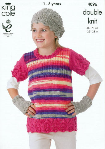 Tunic, Sweater, Hats and Hand Warmers in King Cole DK (4096)