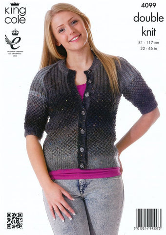 Cardigan and Tunic In King Cole Country Tweed DK (4099)