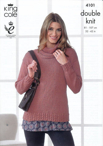 Hoodie and Sweater in King Cole DK (4101)