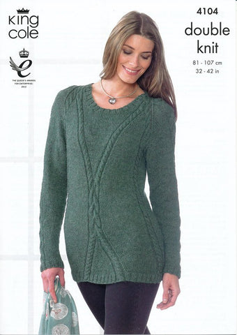 Sweater and Tunic in King Cole DK (4104)