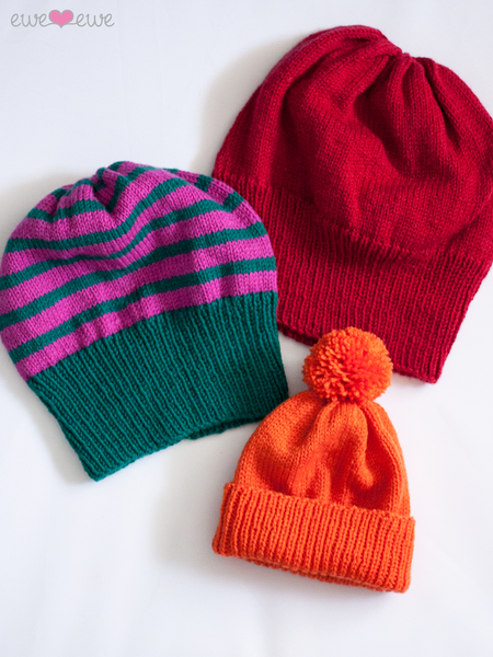 Bundle of Beanies in Ewe So Sporty Merino (413)
