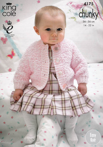 Cardigans and Waistcoats in King Cole Cuddles and Comfort Chunky (4175)