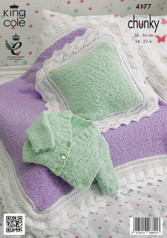 Cardigan, Blankets and Cushions in King Cole Cuddles and Comfort Chunky (4177)