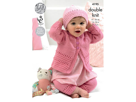 Coat, Hat and Leggings in King Cole Cherish and Cherished DK (4195)