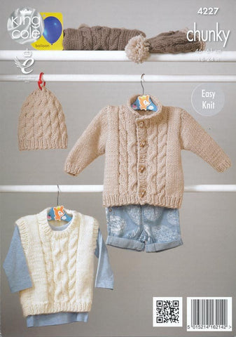 Sweaters, Jacket and Hats in King Cole Comfort Chunky (4227)