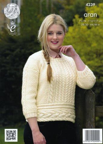 Sweaters in King Cole Fashion Aran (4239)