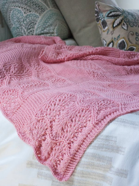 Pink Sky Dreams Baby Blanket in Ewe So Sporty Merino (423)