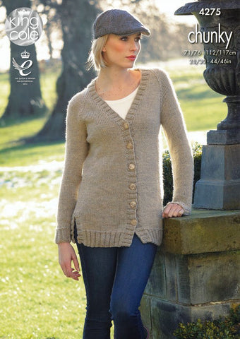 Sweater and Cardigan in King Cole Magnum Chunky (4275)