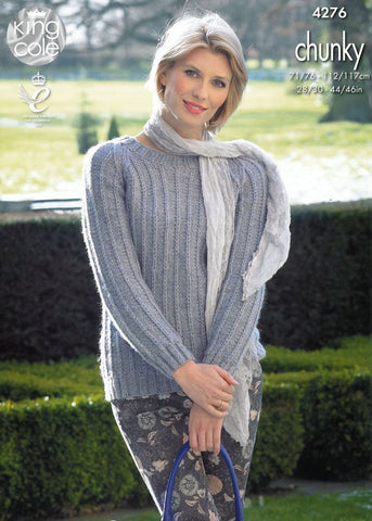 Raglan Cardigan and Sweater in King Cole Magnum Chunky (4276)