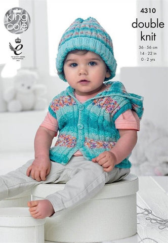 Baby Set in King Cole DK (4310)