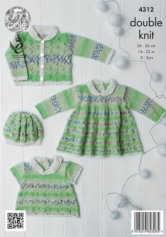 Baby Set in King Cole DK (4312)