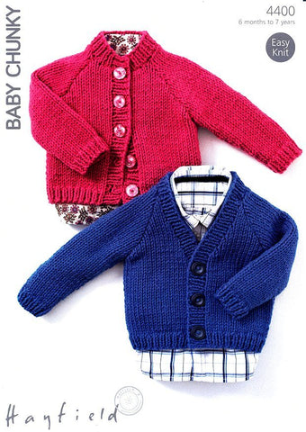 Cardigans in Hayfield Baby Chunky (4400)