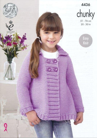 Jackets in King Cole Comfort Chunky (4436)