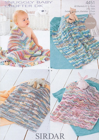 Blankets in Sirdar Snuggly Baby Crofter DK (4451)