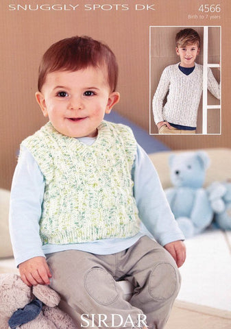 Sweater and Tank Top in Sirdar Snuggly Spots DK (4566)