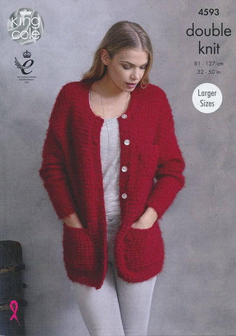 2 in 1 King Cole Double Knitting pattern for Child/'s cardigan /& pullover 4093