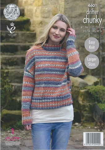 Ladies Sweaters in King Cole Drifter Chunky (4601)