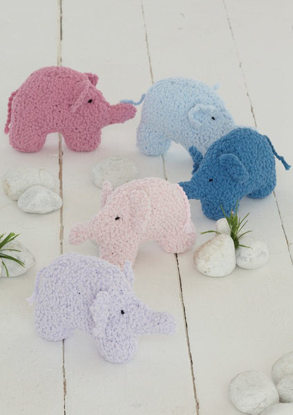 Elephant Toys in Sirdar Snuggly Bubbly (4607) - Digital Version