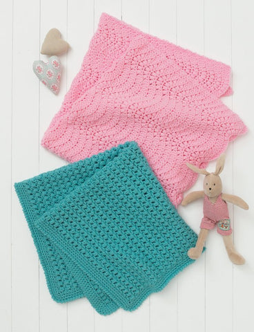 Crocheted Blankets in Hayfield Baby Chunky (4614)
