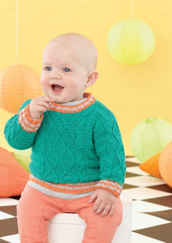 Babies and Boys Sweaters in Sirdar Snuggly Baby Bamboo DK (4627)