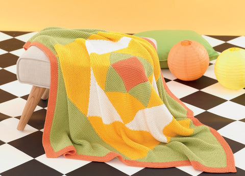 Cable and Colourblock Blankets in Sirdar Snuggly Baby Bamboo DK (4629) - Digital Version