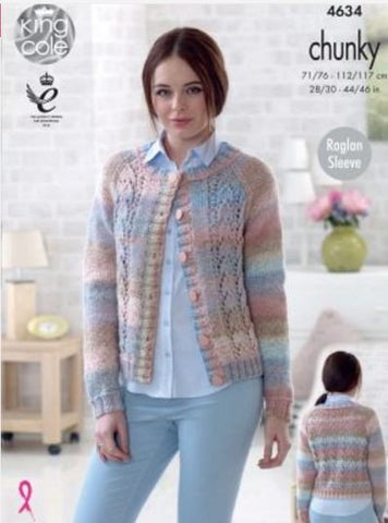 Sweater and Cardigan in King Cole Cotswold Chunky (4634)