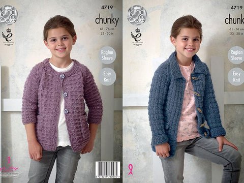 Jackets in King Cole Magnum Chunky (4719)
