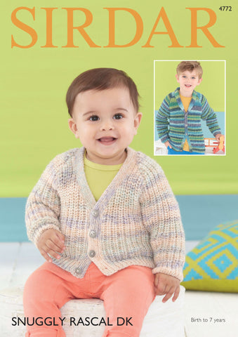 Cardigans in Sirdar Snuggly Rascal DK (4772) - Digital Version